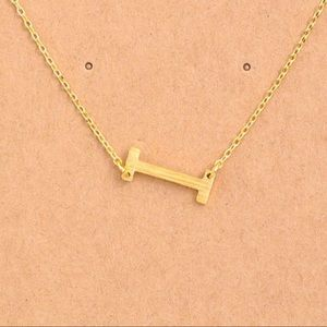 "Jewelry - Letter ""I"" Initial Gold Chain Necklace"